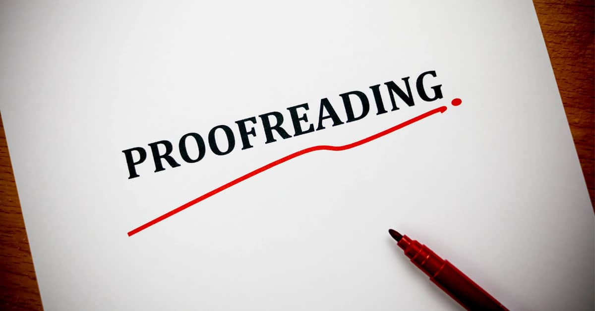 Try online Proofreading