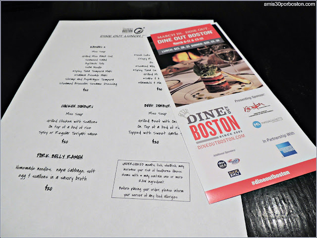 Menú de Otras Ediciones del Dine Out Boston