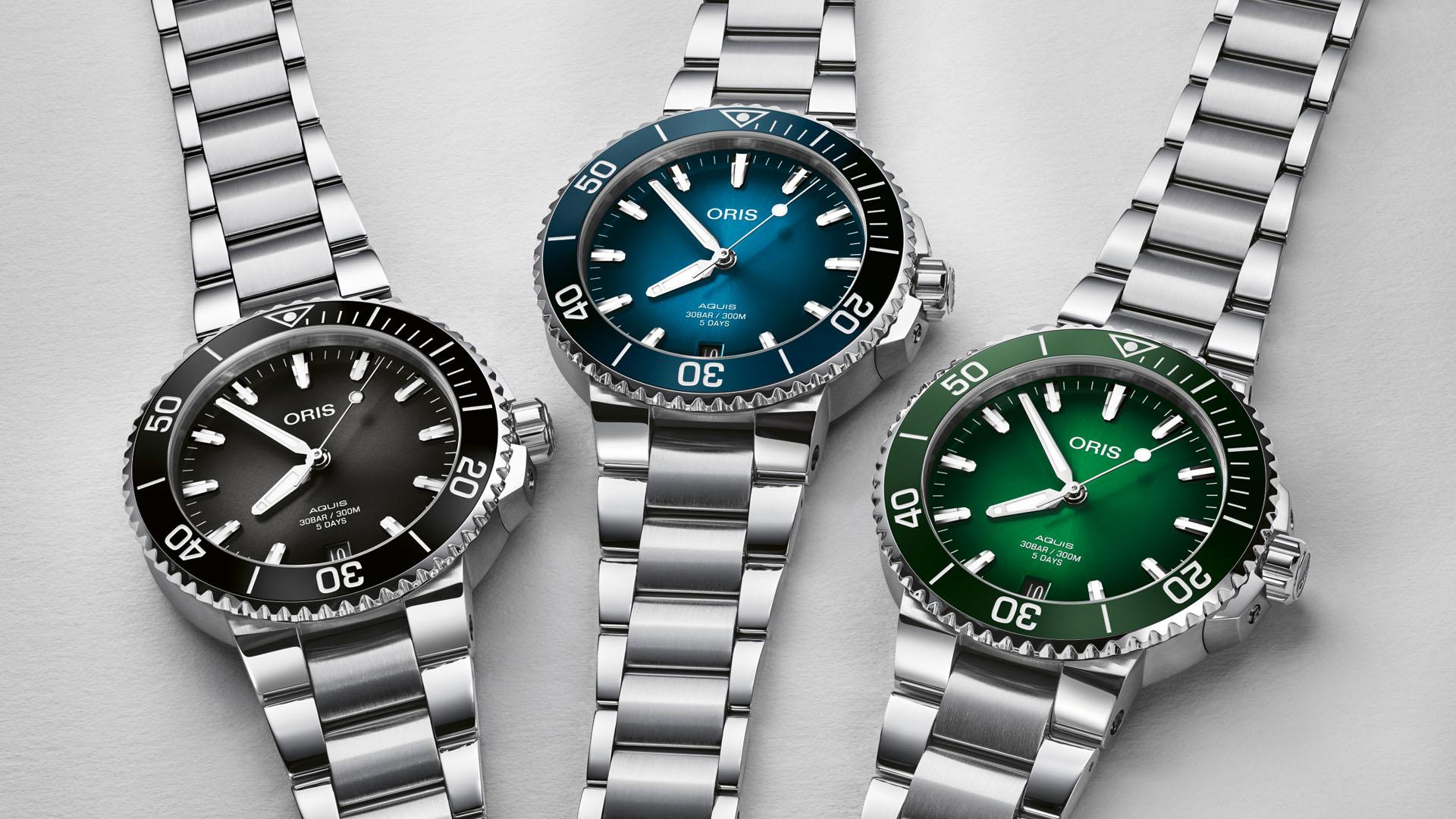 Oris creates Aquis Date Calibre 400 - an avant-garde diver's watch