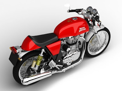 Royal Enfield Continental GT Red colour top view picture