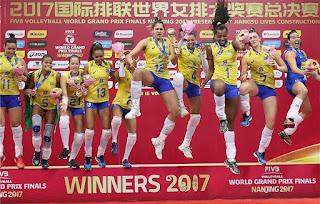 VOLEIBOL - Brasil consigue su 12º World Grand Prix, el último, en Nanjing