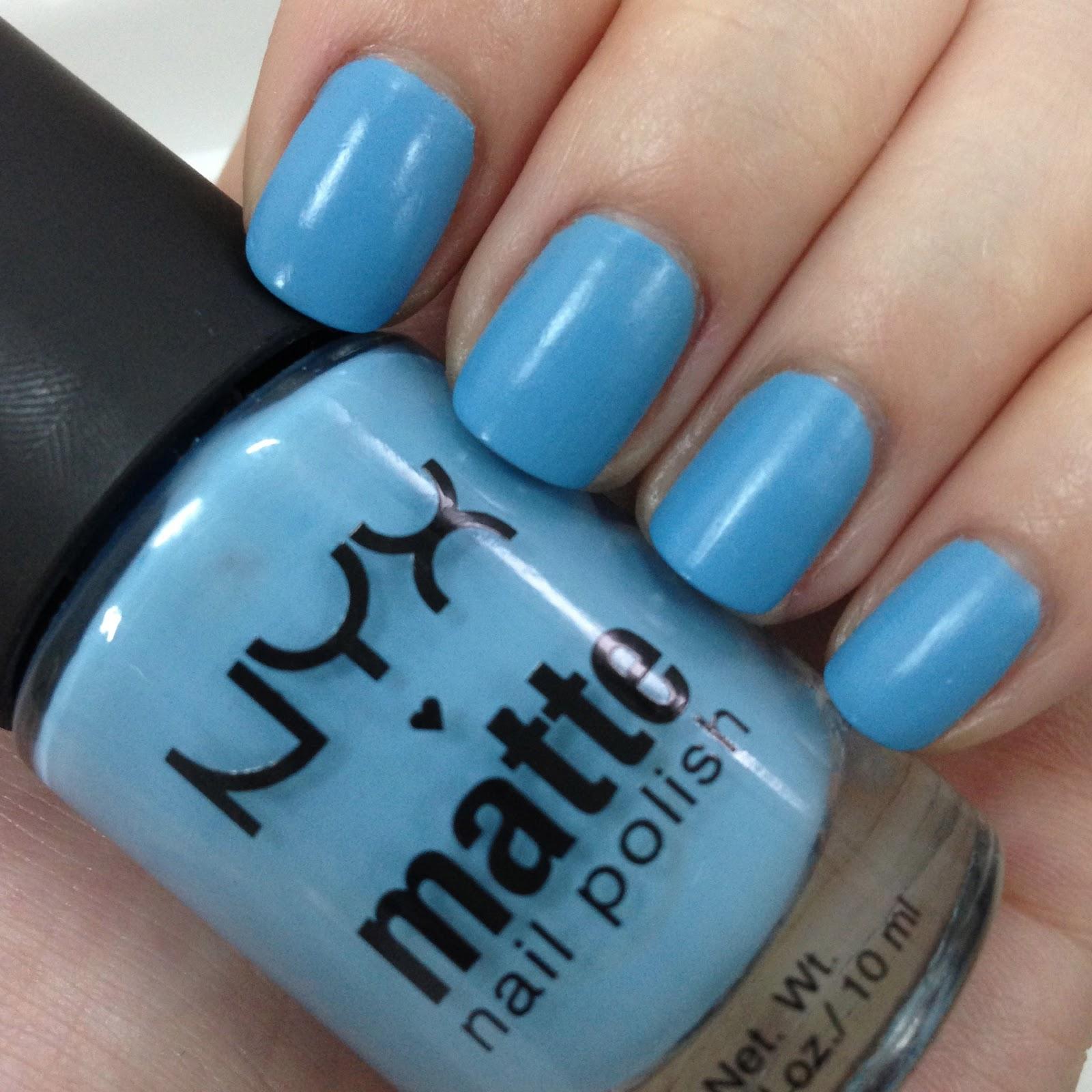 Karen Lives High: NYX Matte Nail Polish in Sky Blue