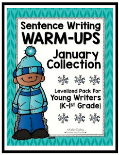 https://www.teacherspayteachers.com/Product/Sentence-Writing-Warm-Ups-January-1629339