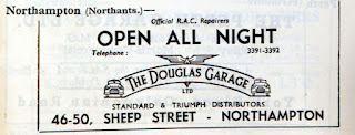 Douglas Garage 1950 RAC guide advert
