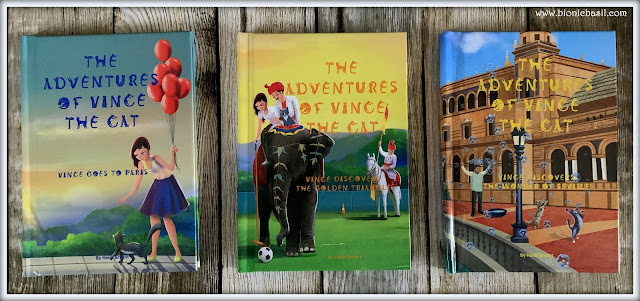 Feline Fiction on Fridays #107 at Amber's Library  @BionicBasil® The Adventures of Vince The Cat Series