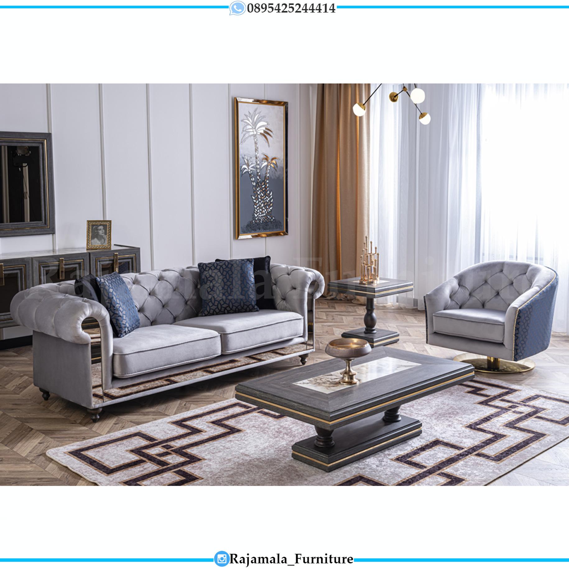 Harga Sofa Ruang Tamu Minimalis Luxury Terbaru Furniture Jepara RM-0150
