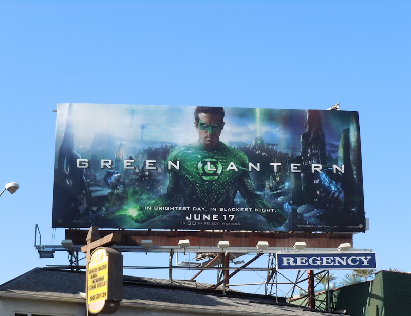 Ryan Reynolds Green Lantern billboard
