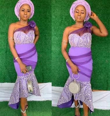 Gorgeous Lace Aso Ebi Gown Styles For Wedding Guest