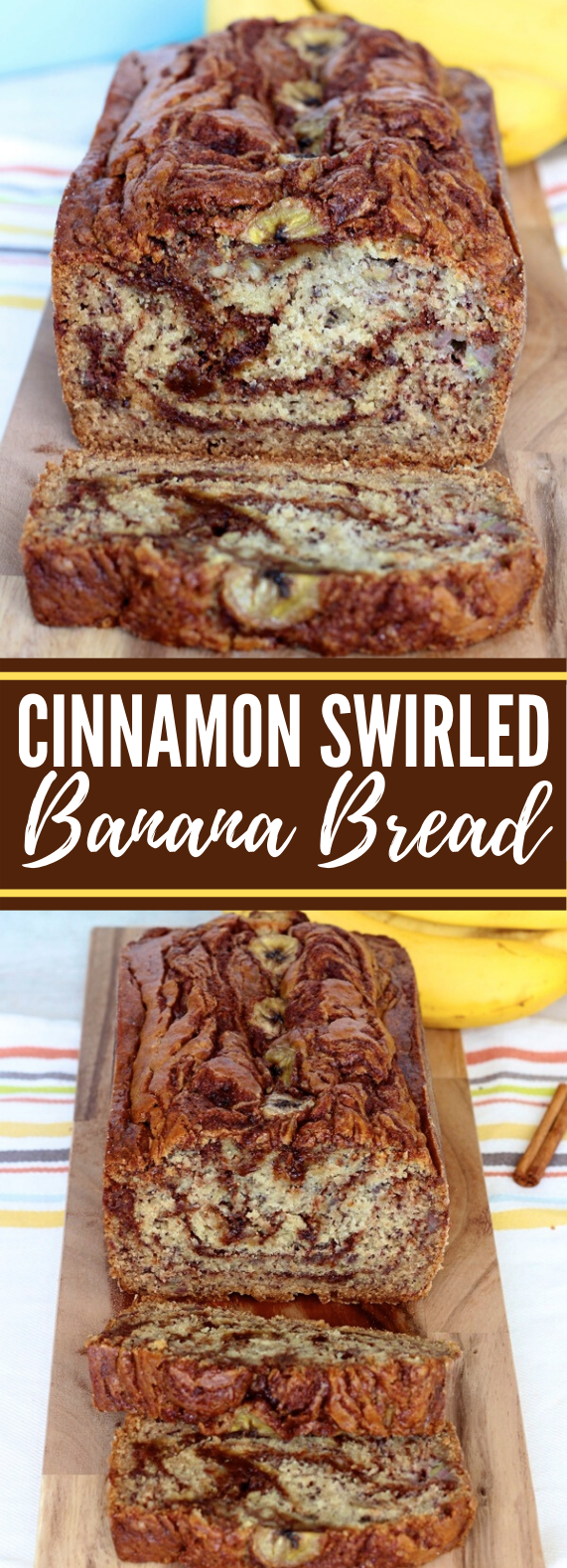 CINNAMON SWIRLED BANANA BREAD #desserts #breakfast
