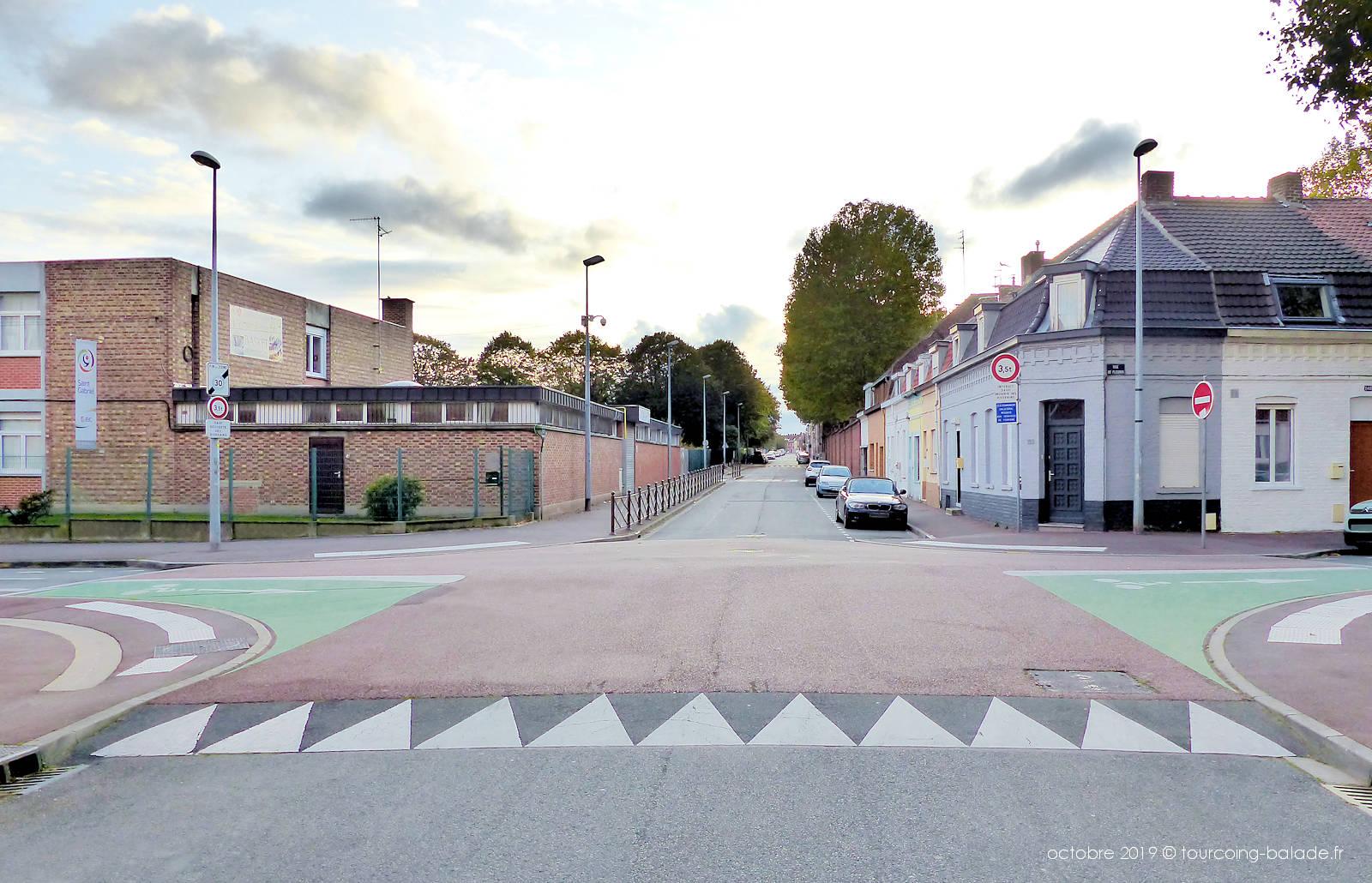 Croisement rues Fleurus et Lamartine - Collège St Gabriel Tourcoing