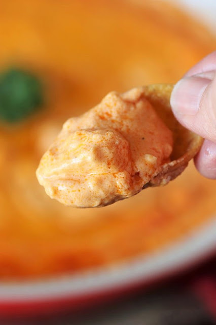 Buffalo Chicken Dip with Frito Scoops Dipper Image