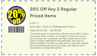 20% Off Any 2 Regular Priced Items
