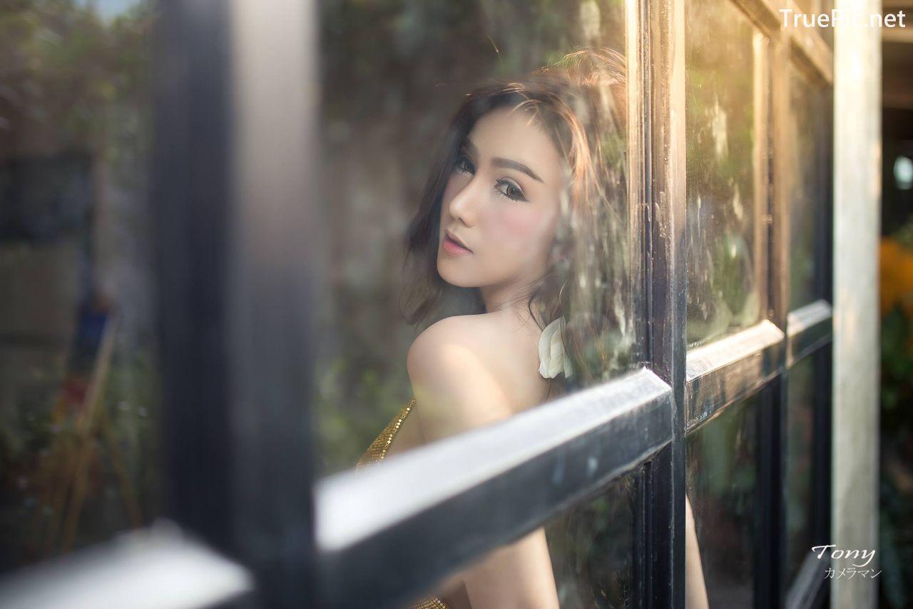 Image-Thailand-Sexy-Model-Khwankanang-Buakongyossawan-Yellow-Camisole-And-Jean-TruePic.net- Picture-9