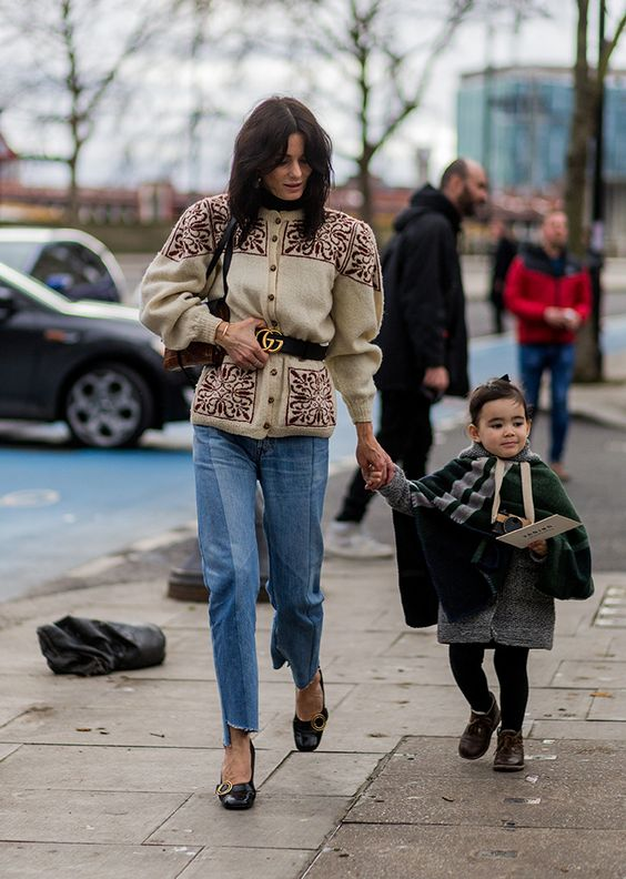 StyleCaster LFW Street Style - Hedvig Opshaug Gucci Belt