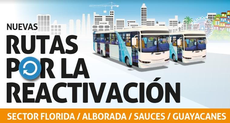 Guayaquil - Nueva ruta por la reactivación - Rutas del sector Bastión Popular / Orquídeas / Puente Lucía