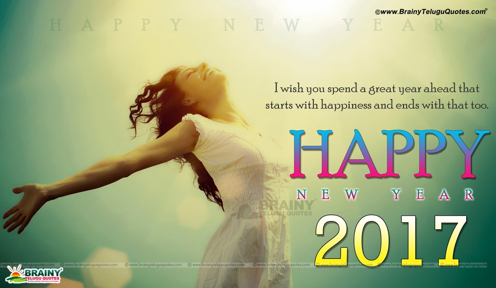 English Happy New Year 2017 Inspirational Greetings ...