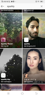 Sparkly filter instagram || Cara mendapatkan Sparkly filter di instagram