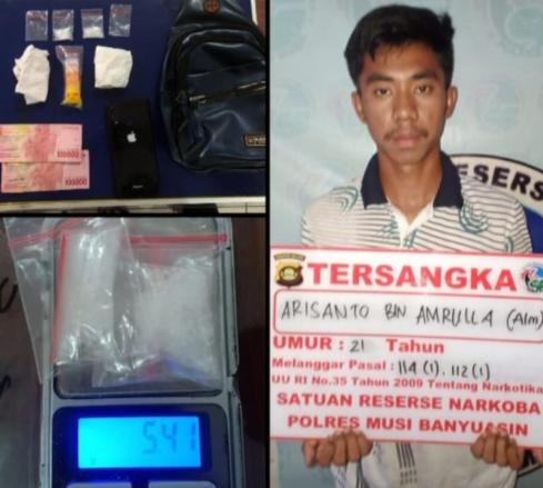 Dua Paket Sabu Siap Edar diamankan Polisi