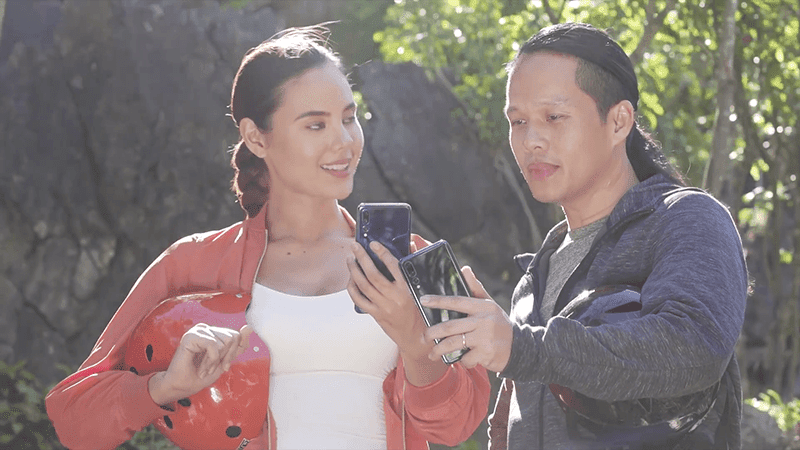 Catriona Gray and Pat Dy took the Huawei P20 Pro to Masungi Georeserve!