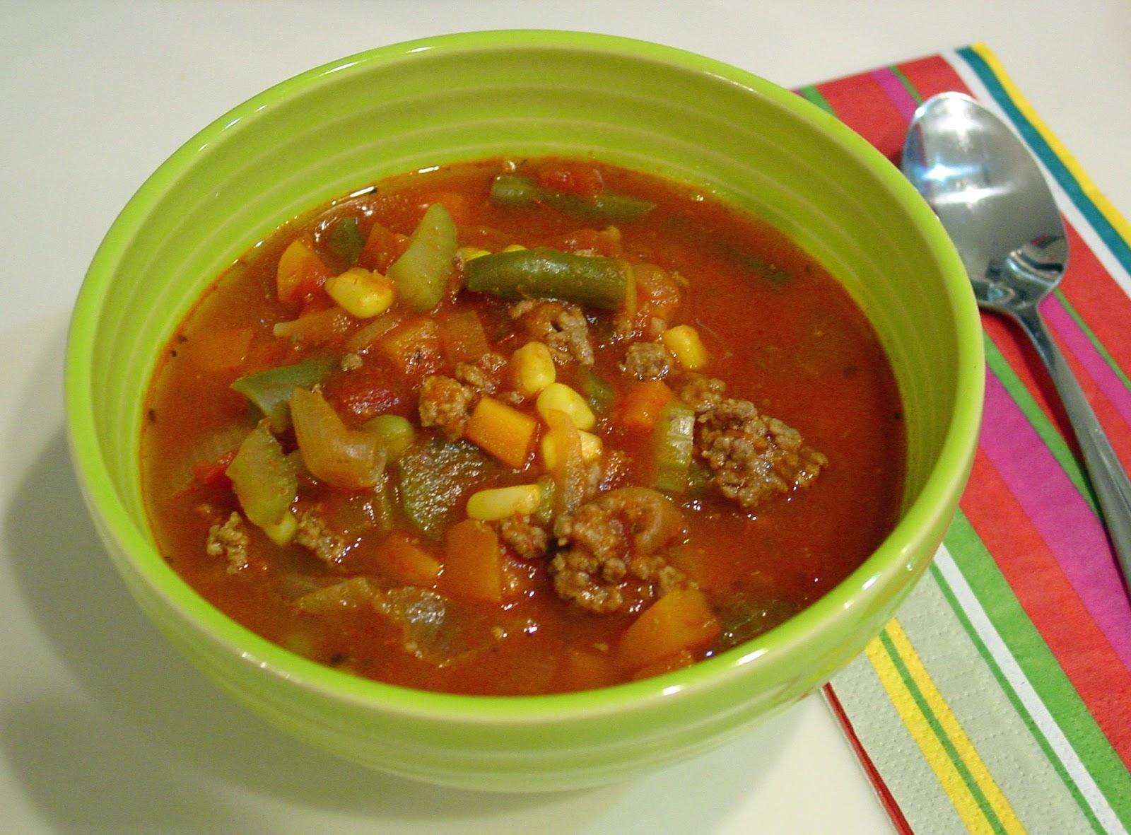 Instant Pot Spicy Beef Vegetable Soup