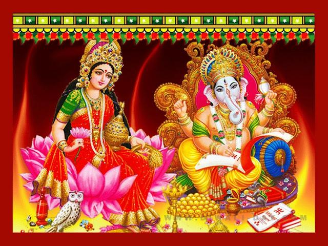Best Maa Lakshmi & Ganesha Photo Frame HD Wallpaper