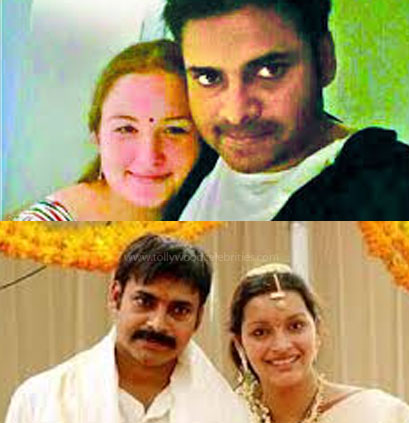 Pawan Kalyan and his wife: