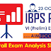 IBPS PO Pre 23rd October 2016 Exam Analysis & Expected Cut-Off  - SLOT 3