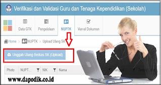 Wajib Dilakukan Oleh Operator Sekolah Untuk Upload Ulang SK di Verval PTK
