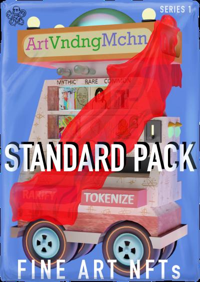 ArtVndngMchn Standard Pack of fine art NFTs on WAX