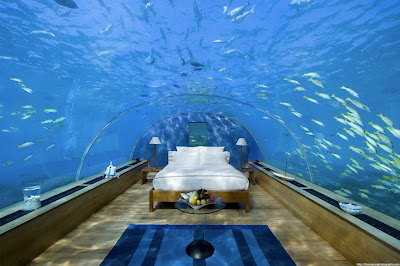 UNDERWATER BEDROOM IN MALDIVES Conrad Maldives Rangali Island