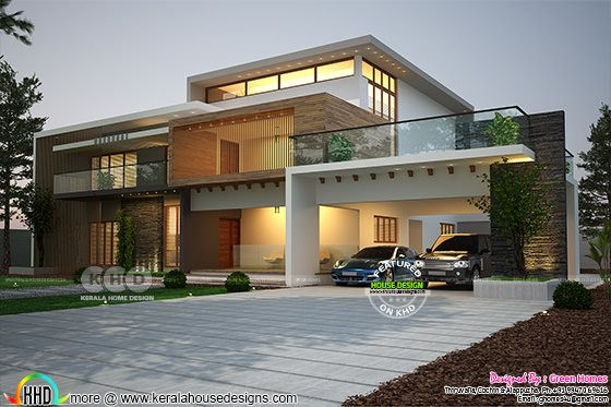 Luxury 7 bedroom Contemporary house plan