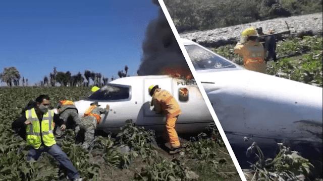 Video: Así se desplomaron y murieron calcinados Jet de la Fuerza Area Mexicana antes de aterrizar en aeorupuerto de Xalapa, Veracruz hay 6 Militares muertos