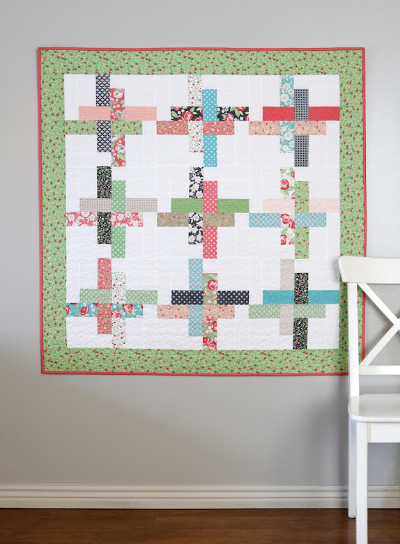 Hello Washi baby quilt by A Bright Corner - pattern is precut friendly (charm squares or jelly rolls) and comes in four sizes: baby, throw, twin, queen