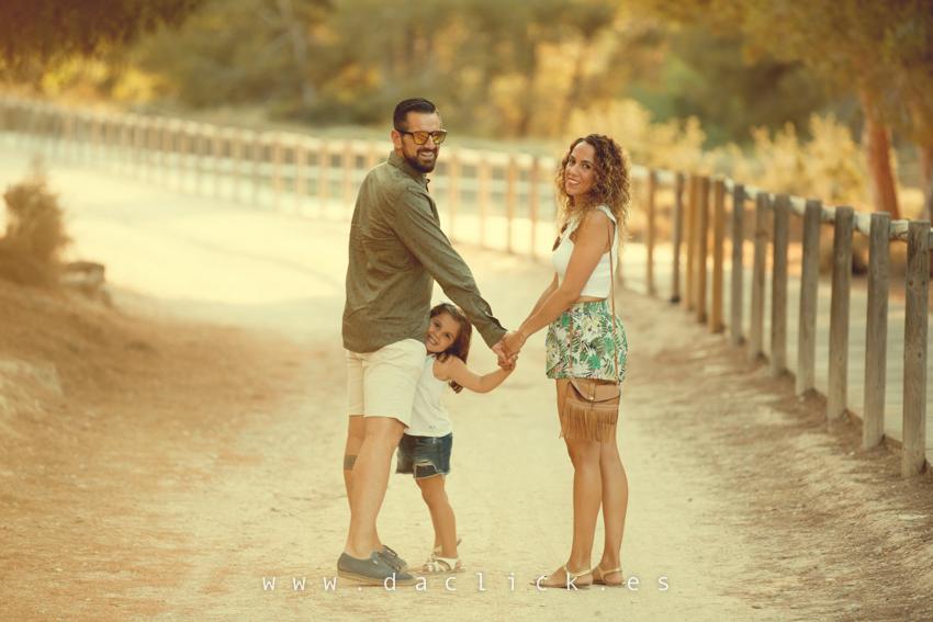 sesión de fotos pareja y familia