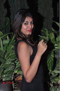 Actress Kavya Kumar Stills in Black Short Dress at F Club pre soft Launch  0020.JPG