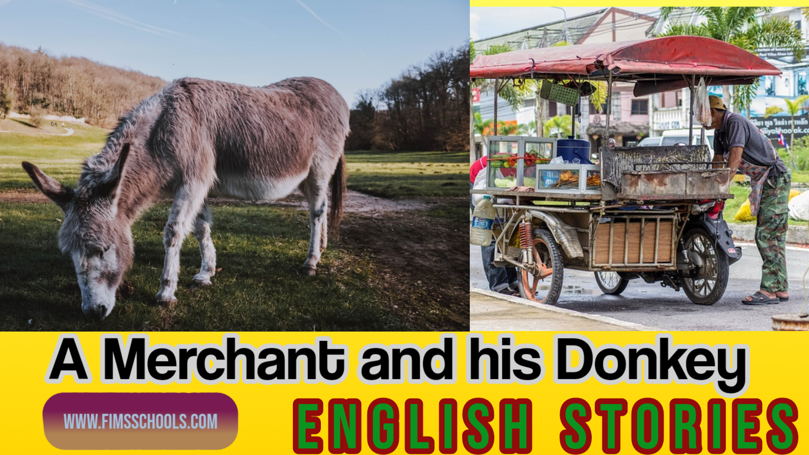 A Merchant And His Donkey English Srories