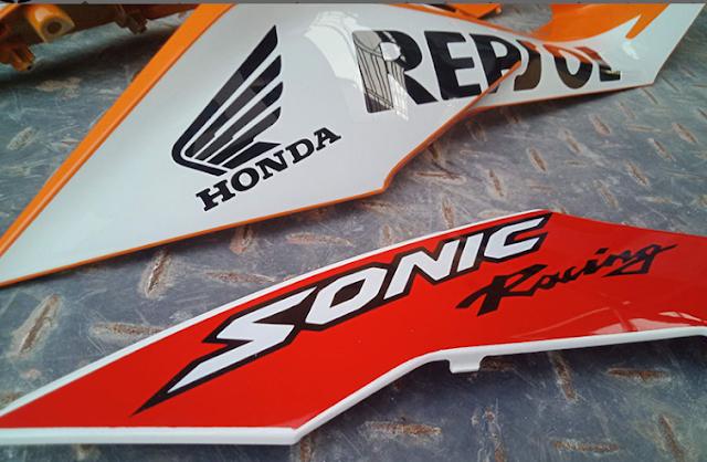 Sơn Tem Xe Honda Sonic Repsol cực đẹp