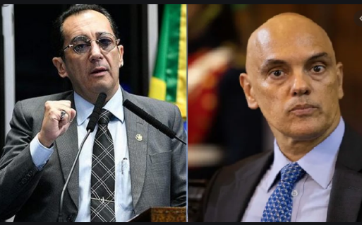 Senador Jorge Kajuru apresenta pedido de impeachment de Alexandre de Moraes (VÍDEO)