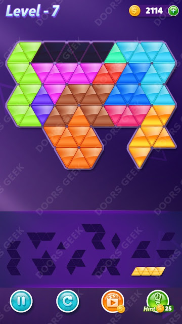 Block! Triangle Puzzle 12 Mania Level 7 Solution, Cheats, Walkthrough for Android, iPhone, iPad and iPod