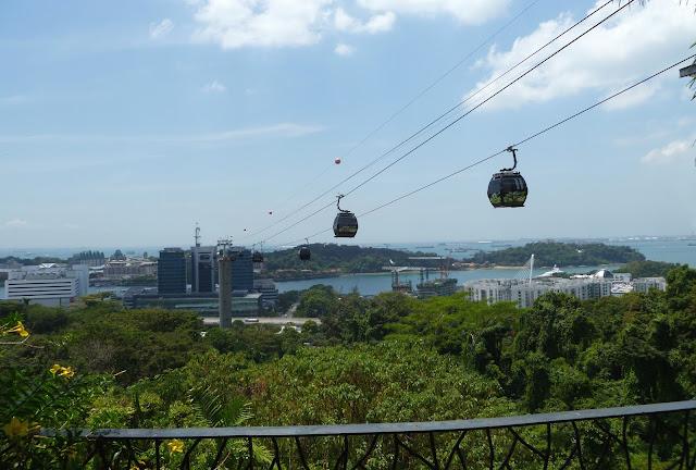 Kolejka linowa w Singapurze