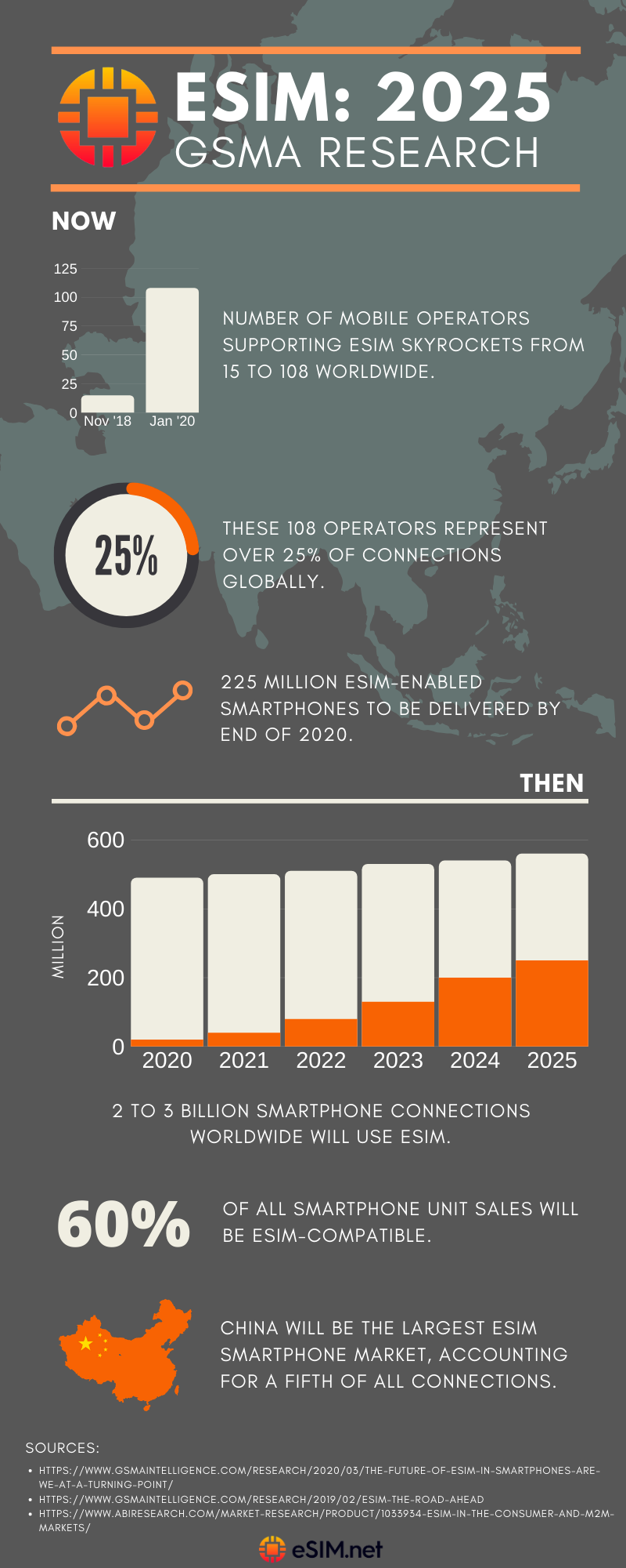 eSIM Trends and Insights for 2025 #infographic