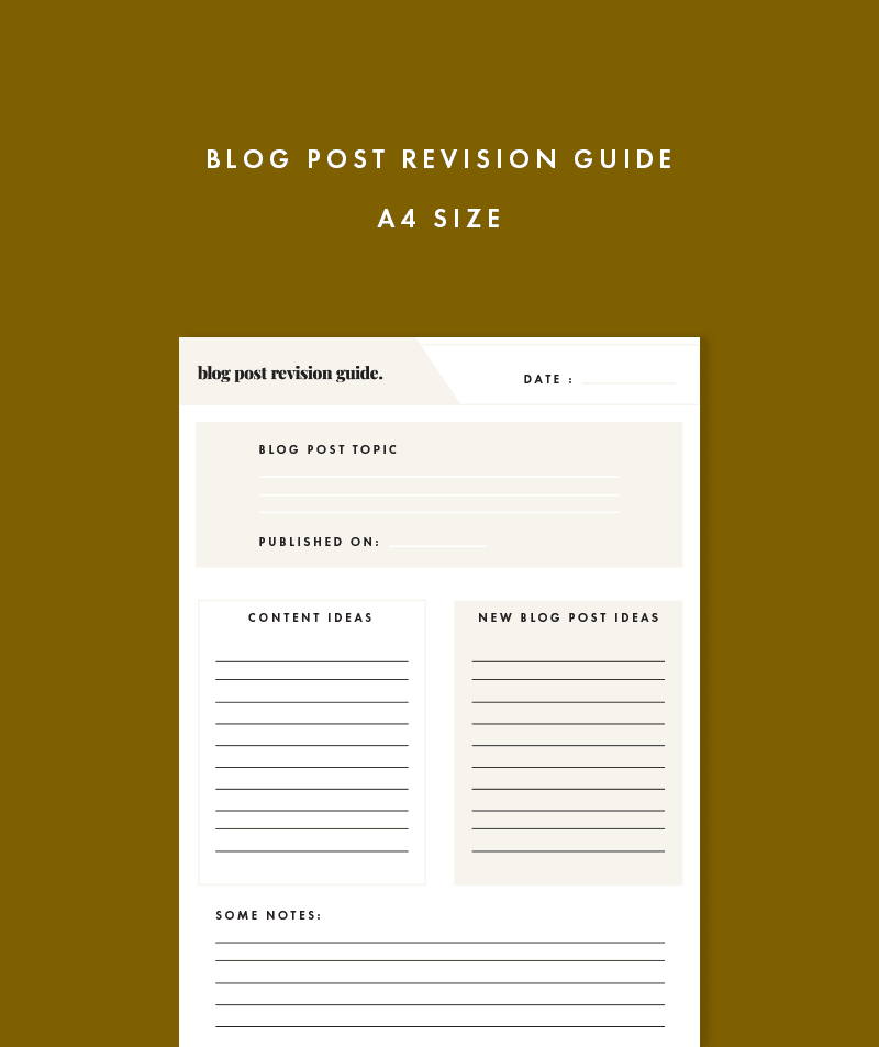 blog post revision guide