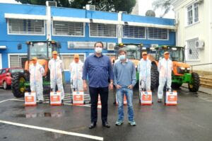 Ruas e espaços públicos de Registro-SP são desinfectados com hipoclorito de sódio