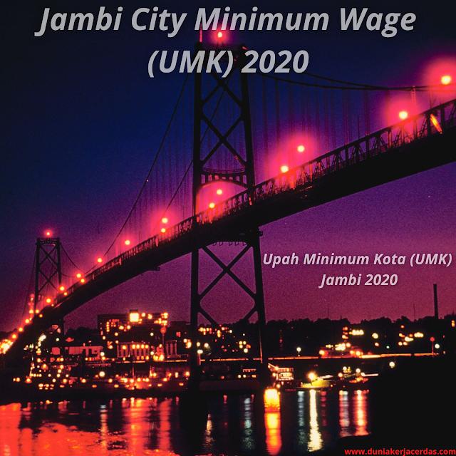 Jambi City Minimum Wage (UMK) 2020