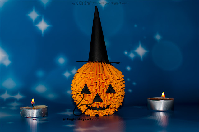 622. Dynia na Halloween z origami / 3d origami Halloween pumpkin