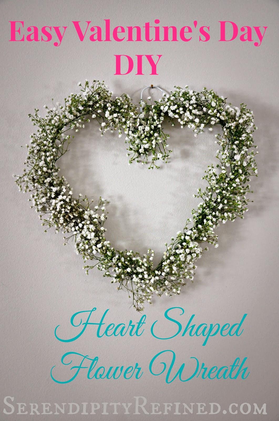 Serendipity Refined Blog Diy Heart Shaped Flower Wreath