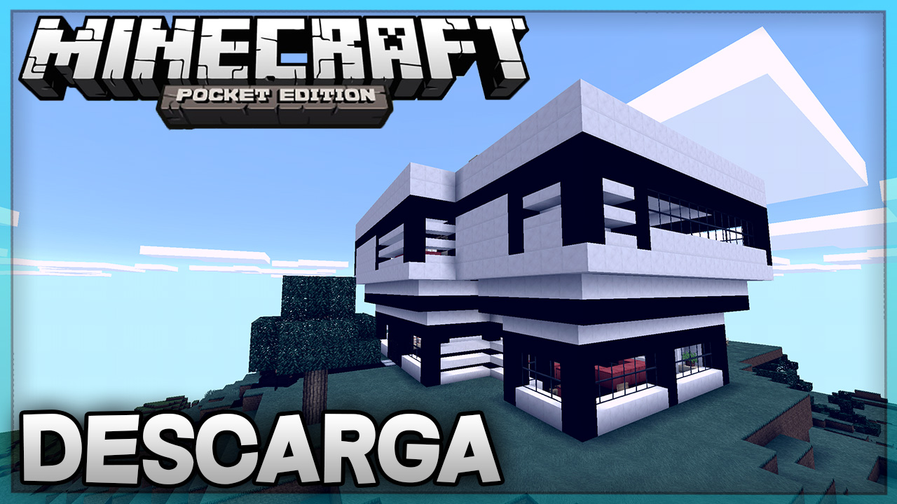 Descarga casa moderna para minecraft pe super casa 9 for Casa moderna 0 12 1