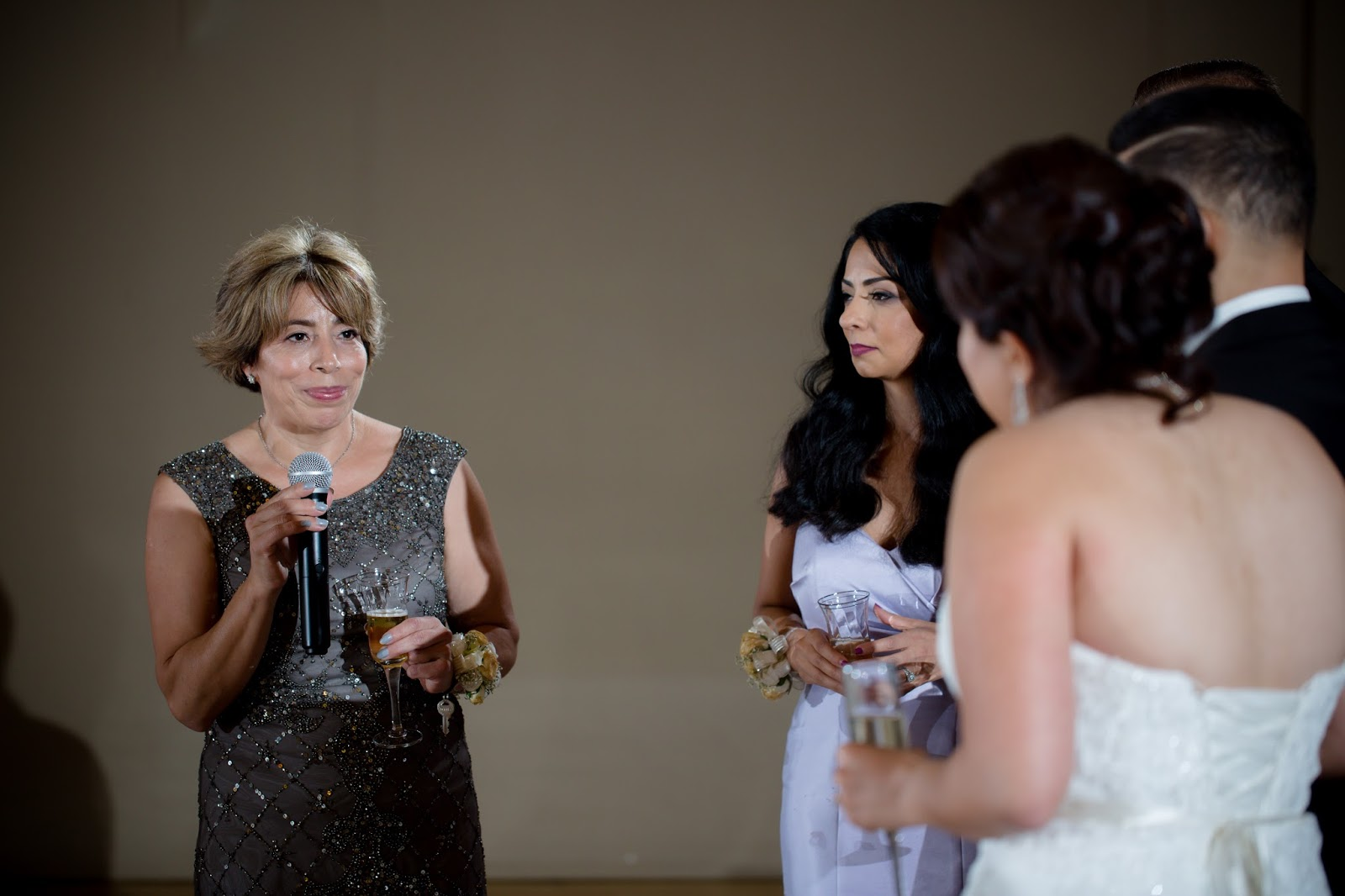 Mother of Bride gives her Toast