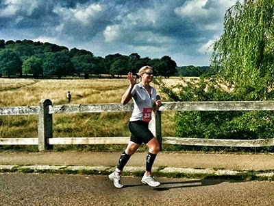 Emma Flattery is running to raise funds for Cats Protection