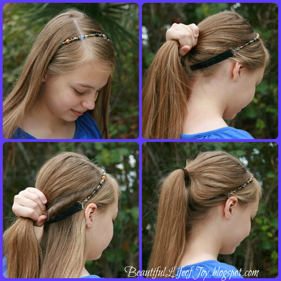 Beautiful Life of Joy  Ponytail with Lilla Rose Headband 73851fc6dab